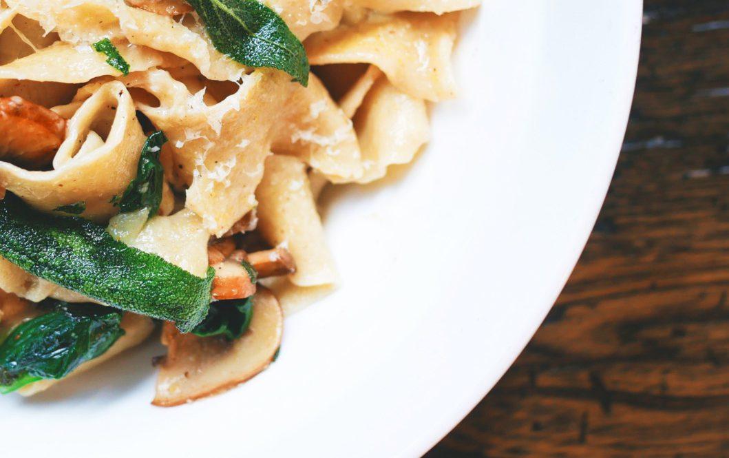 Plate of pasta from an italian restaurant in Maple Ridge